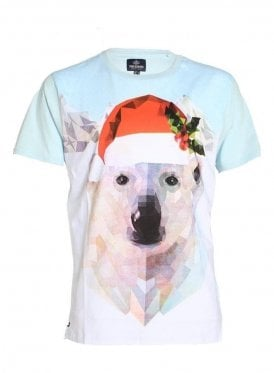 Polar Bear Xmas Novelty Tee Blue