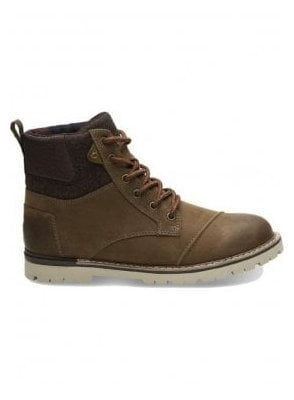 Ashland Waterproof Burnished Leather Boot Brown