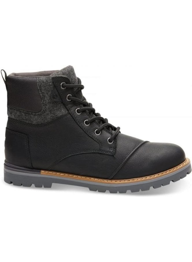 TOMS Ashland Waterproof Leather Boot Black