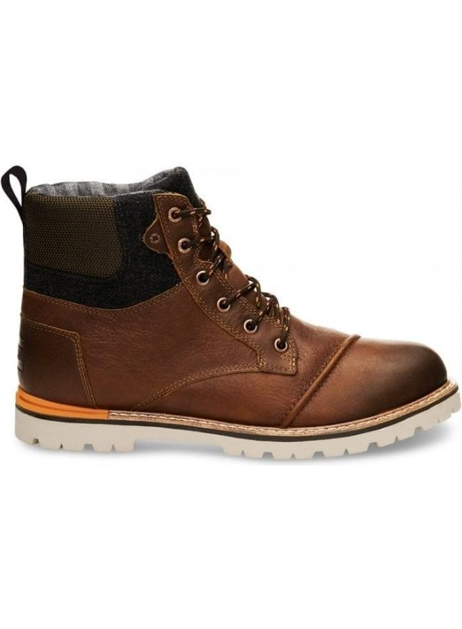 TOMS Ashland Waterproof Leather Boot Brown