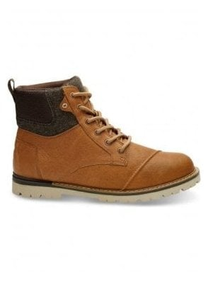 Ashland Waterproof Leather Brushed Wool Boot Dark Toffee