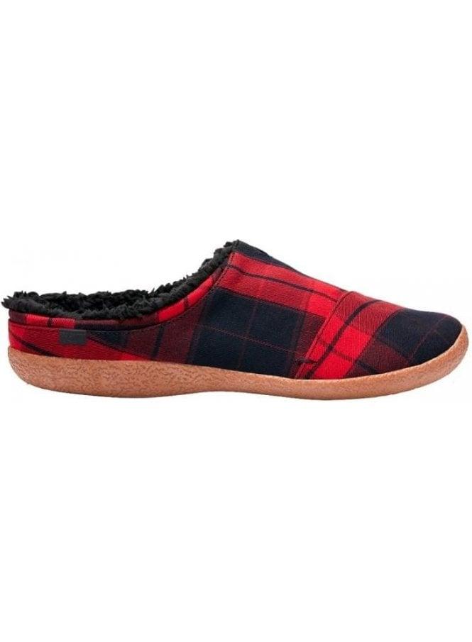 TOMS Berkeley Plaid Check Slipper Red/black