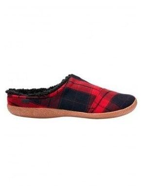 Berkeley Plaid Check Slipper Red/black