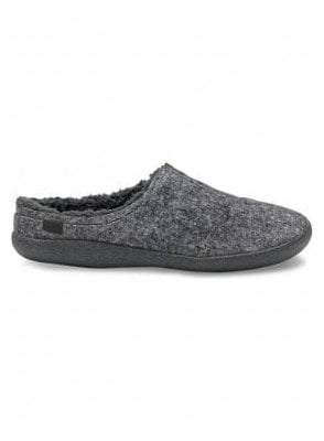 Berkeley Slub Textile Slippers Grey Slub