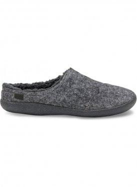 Berkeley Slub Textile Slippers Grey Slub