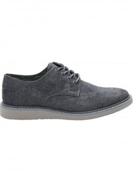 Brogue Plaid Textile Shoe Castlerock Grey