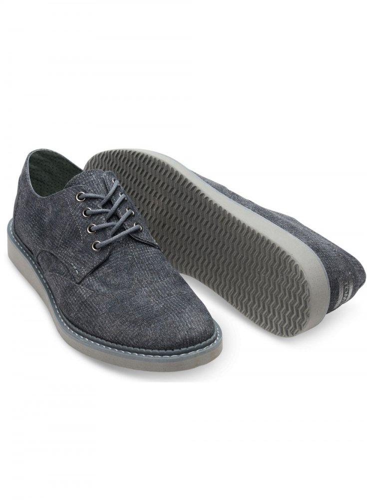 f0027815d09 Toms Brogue Plaid Textile Shoe Castlerock Grey