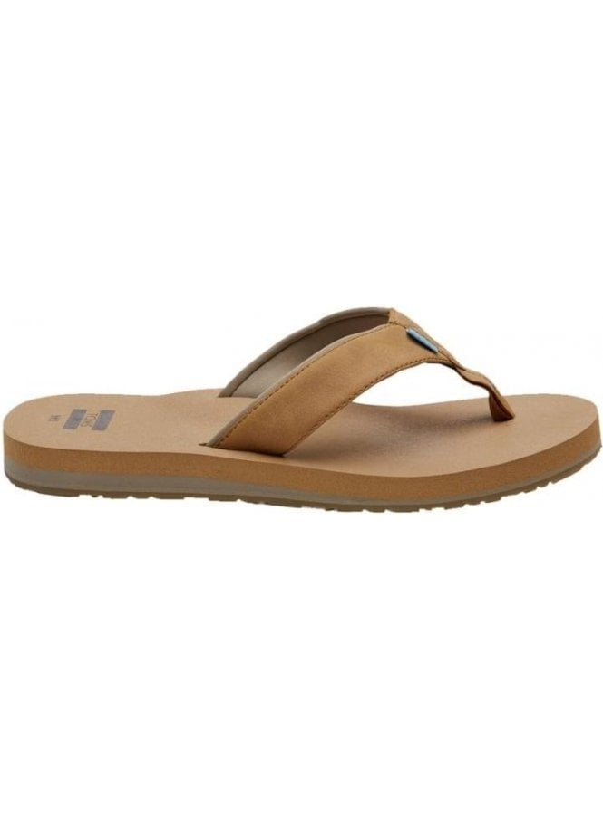 TOMS Carilo Cushioned Casual Vegan Flip Flop Toffee