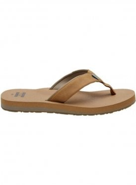 Carilo Cushioned Casual Vegan Flip Flop Toffee