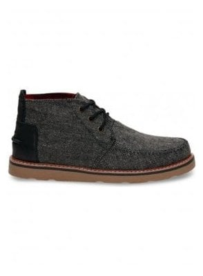 Toms Chukka Fleck Design Boot Charcoal