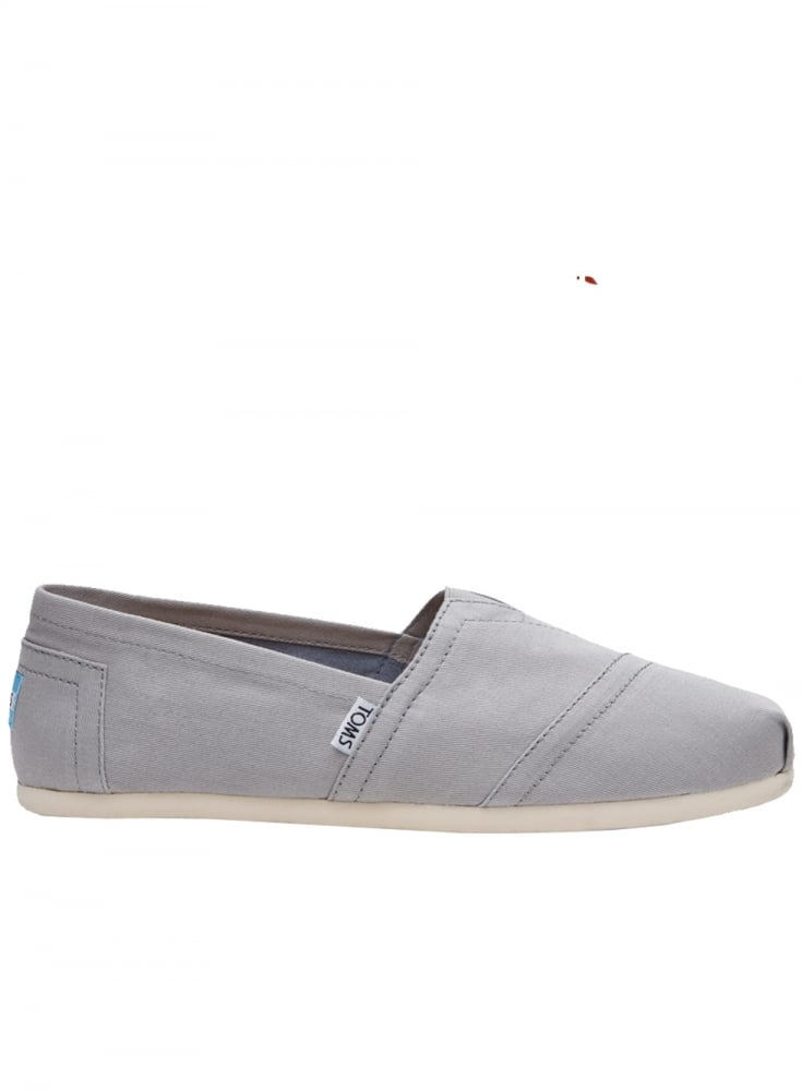 17e251a1873 Toms Classic Canvas Slip On Footwear Drizzle Grey