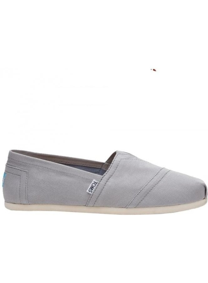 TOMS Classic Canvas Slip On Footwear Drizzle Grey