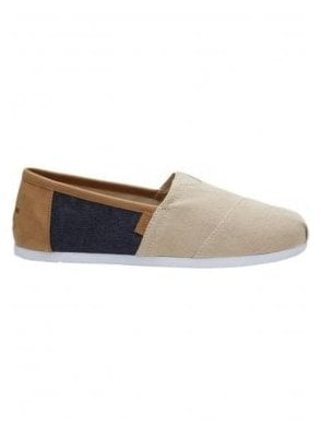 Classic Denim Canvas Slip On Natural Hemp/navy