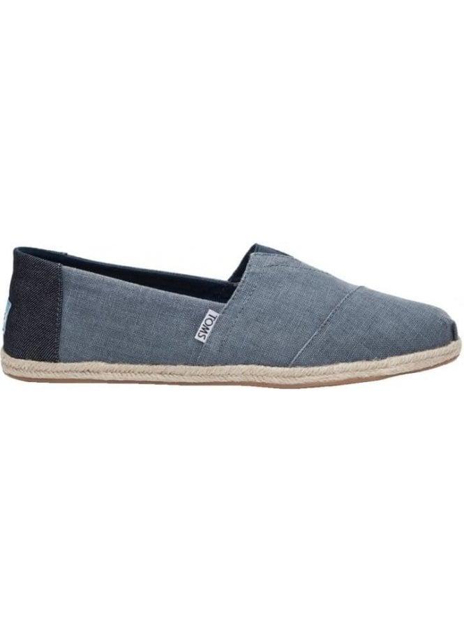 TOMS Classic Linen Rope Slip On Footwear Deep Ocean (Vegan)
