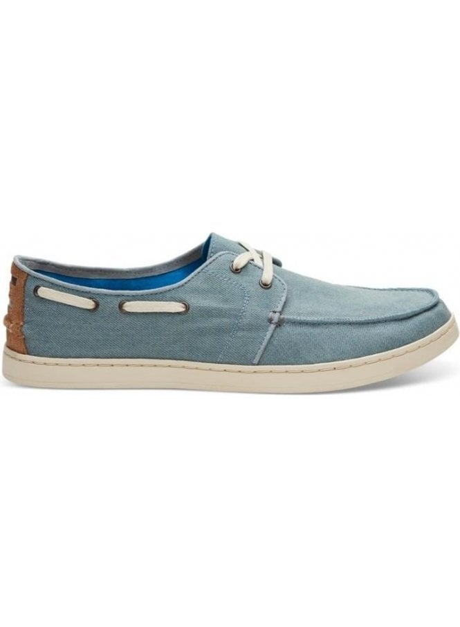 TOMS Culver Denim Boating Shoe Slate Blue