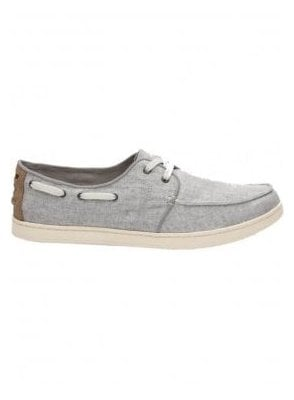 Culver Linen Laced Boating Deck Shoe Drizzle Grey