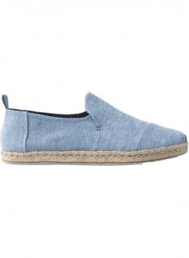 Deconstructed Alpargata Chambray Rope Sole Sl Cornflower Blue Slub