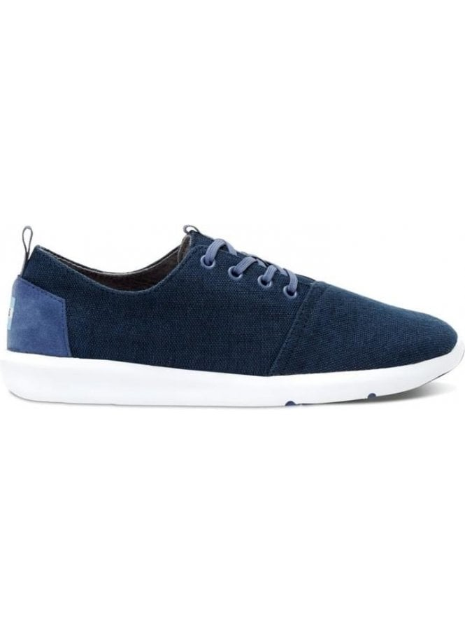 TOMS Del Ray Navy Canvas Trainer Navy