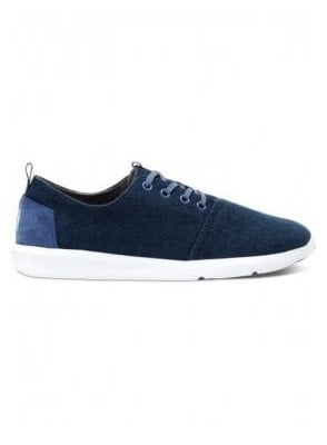 Del Ray Navy Canvas Trainer Navy