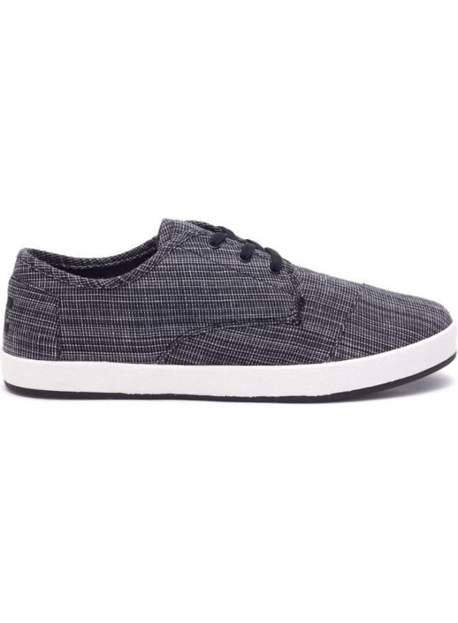 TOMS Paseo Woven Distressed Sneaker Black