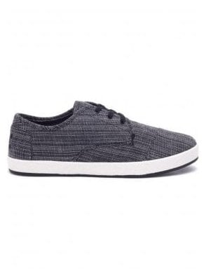 Paseo Woven Distressed Sneaker Black