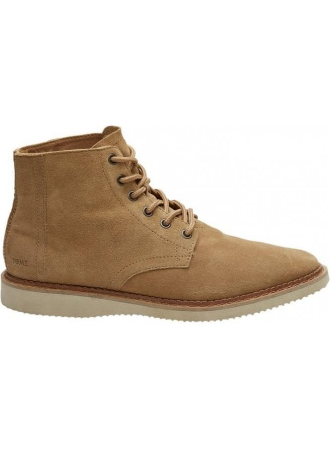 TOMS Porter Suede Laced Boot Toffee Suede