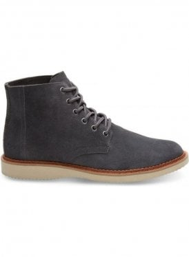 Porter Suede Laced Up Boot Forged Iron Grey Suede