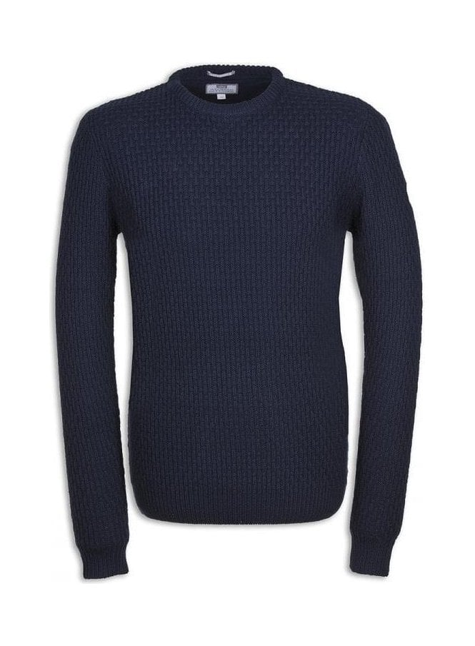 WEEKEND OFFENDER Hurrell Chunky Sweater Navy