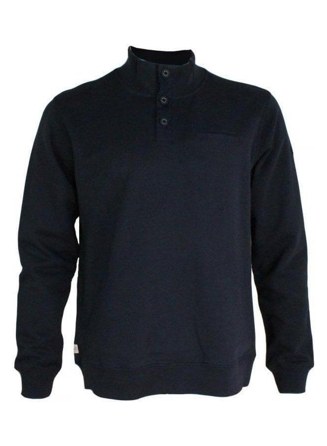 WEEKEND OFFENDER Moser Button Sweater Navy