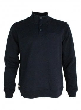 Moser Button Sweater Navy