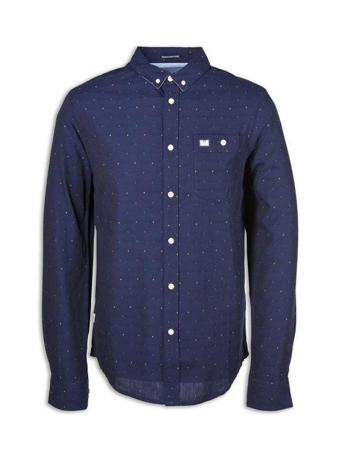WEEKEND OFFENDER Nice Long Sleeve Shirt Navy
