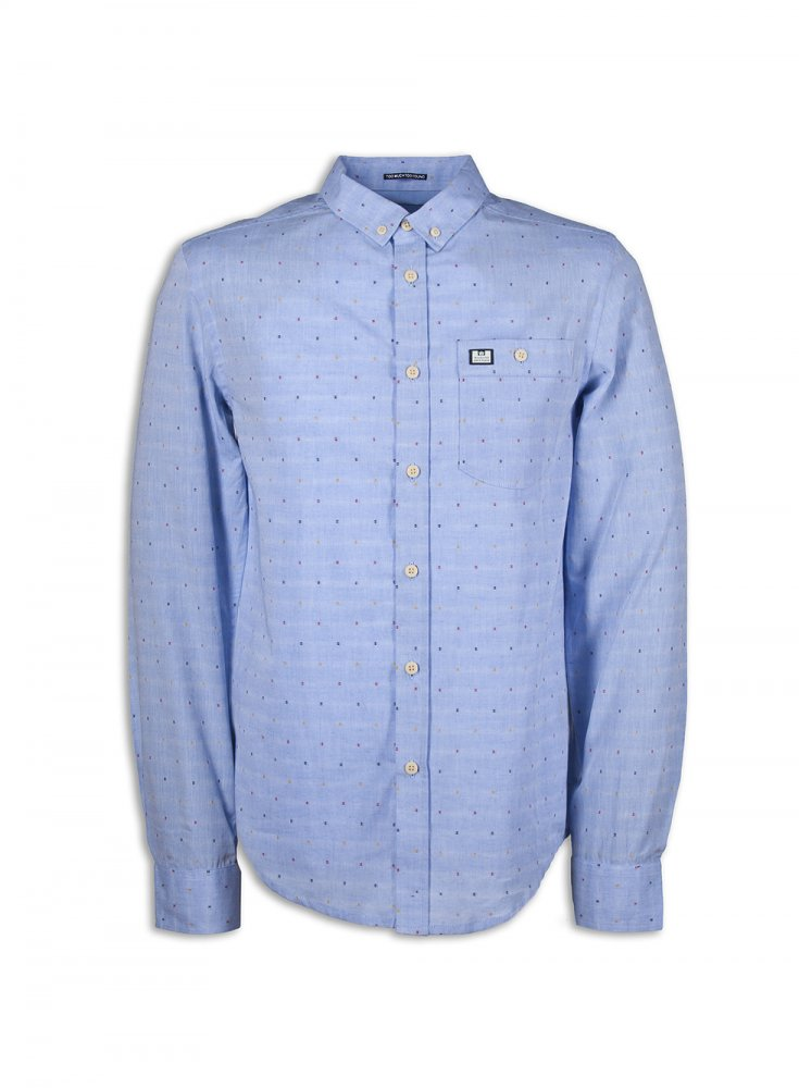 Weekend Offender Nice Long sleeve Shirt Pale Blue