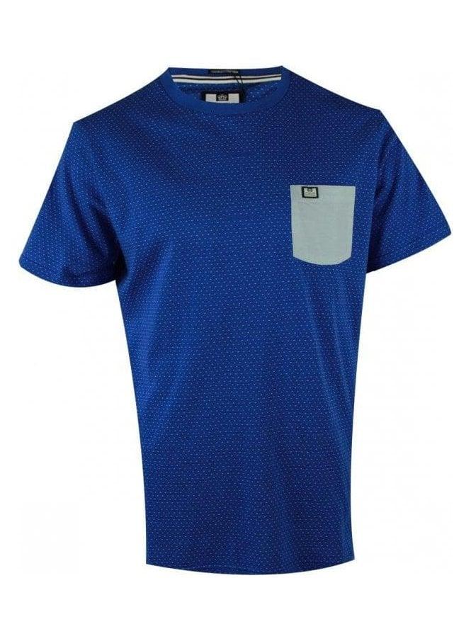 WEEKEND OFFENDER Palisades Tshirt Olympian Blue (spring & summer 15)